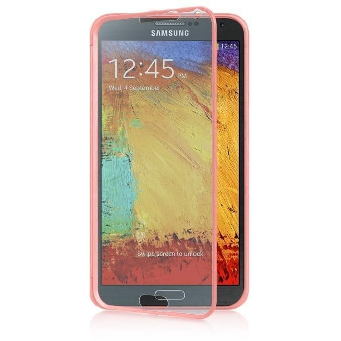 DW AIO Wrap-up w/ Screen Protector Case for Galaxy Note 3 - Pink