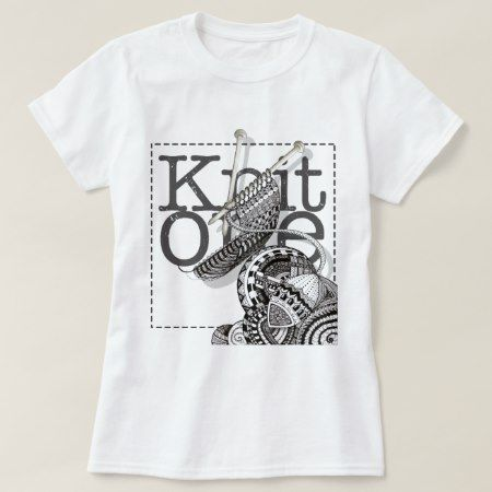 Knit One Doodle Art T-Shirt - tap, personalize, buy right now!