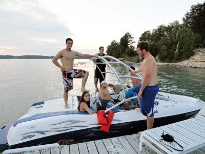 Boat rentals on Torch Lake