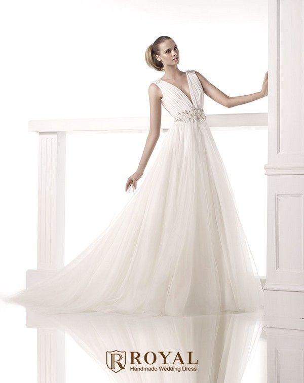 Perfect  Royal handmade wedding dress