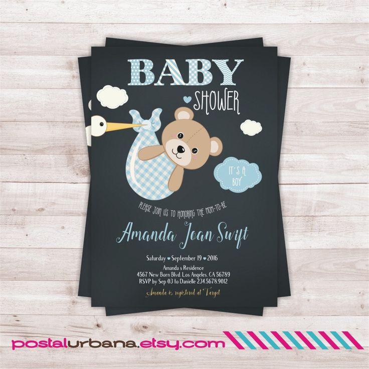 Invitacion osito Invitacion baby shower osito por PostalUrbana