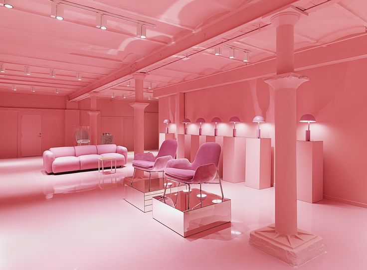 All is pink...