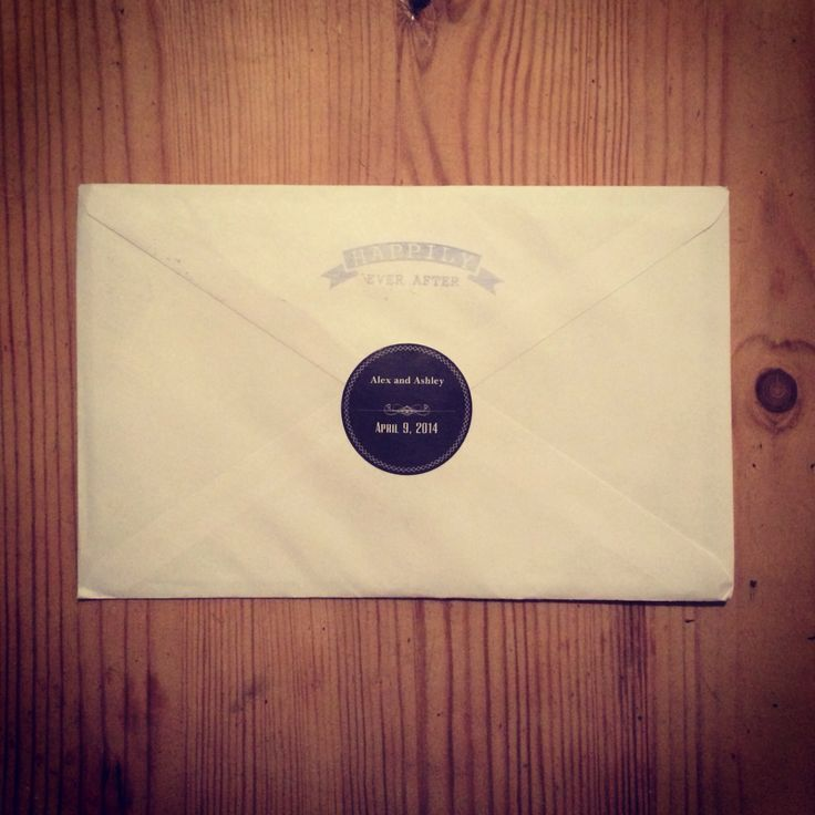 Wedding Invite Envelope Stamp Sticker