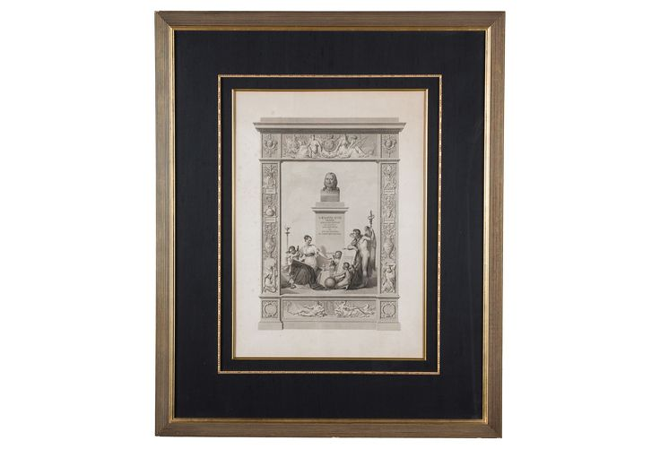 19th-C. Neoclassical Lithograph | One Kings Lane
