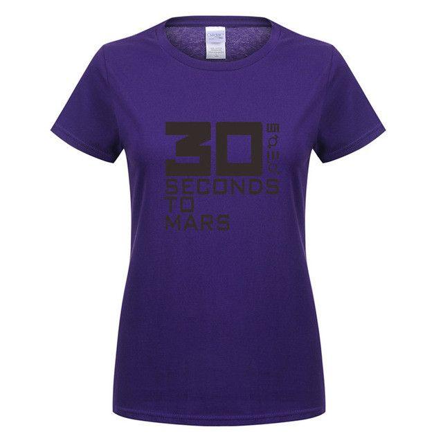 30 Seconds To Mars Women T Shirts Music Band T-shirt Short Sleeve Cotton Rock 30STM Women T-shirt Tops Tee OT-219