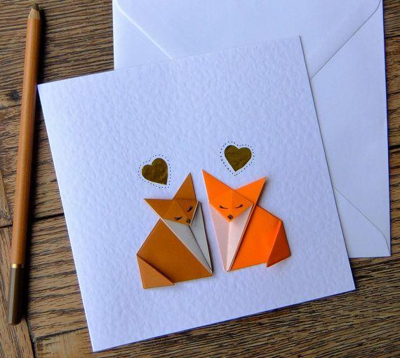 Прикольные оригами открытка