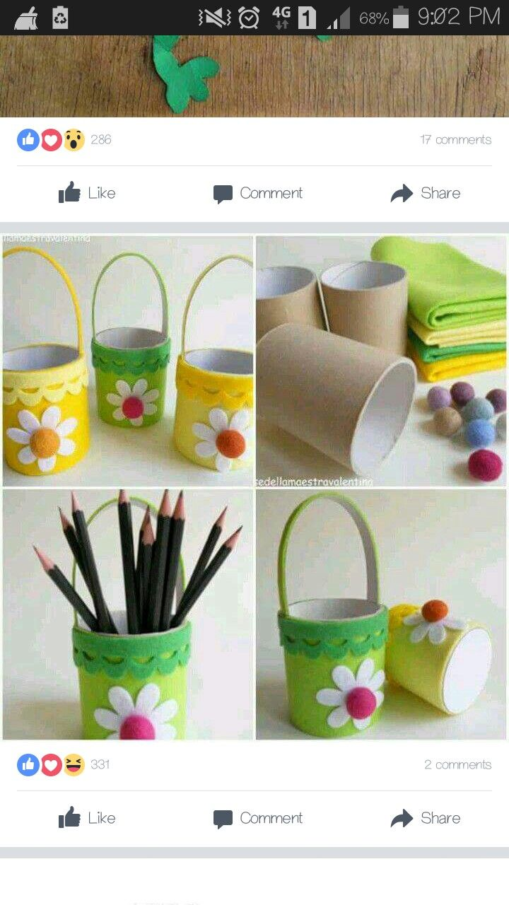Children are to decorate the cardboard tubes. Then, could possibly place fake flowers in the tubes. To be given as Mother's day craft