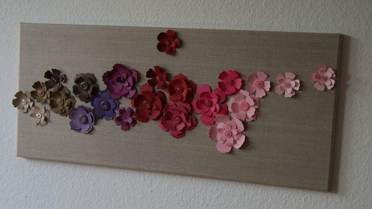 flowers on a board.