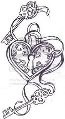 Key to my heart tattoo...want something similar for my tat for my children