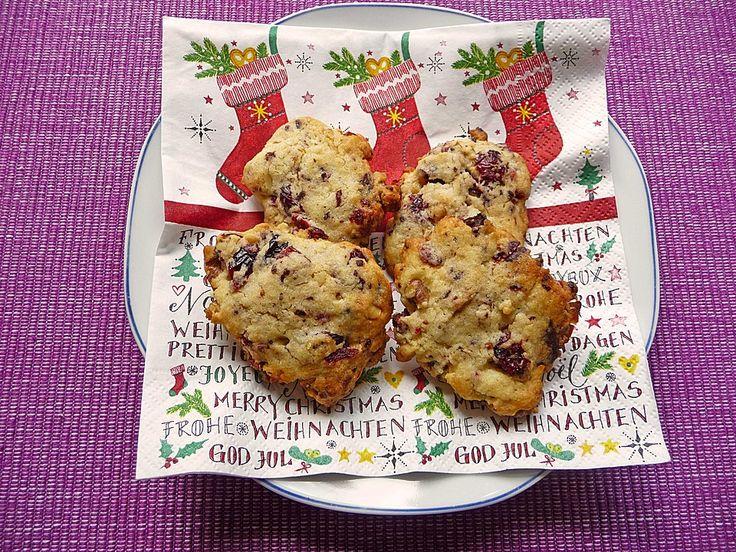 Cranberry - Walnusskekse (Rezept mit Bild) von LadyLily | Chefkoch.de