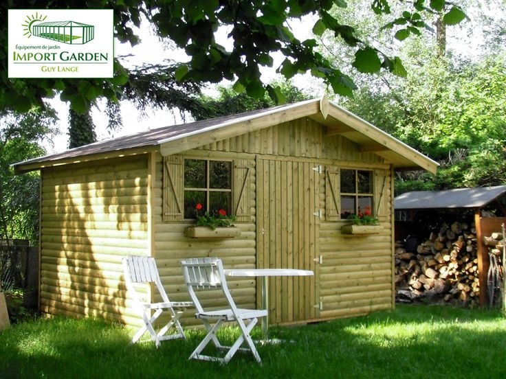 14 best Abri de jardin en bois images on Pinterest | Wood gardens ...