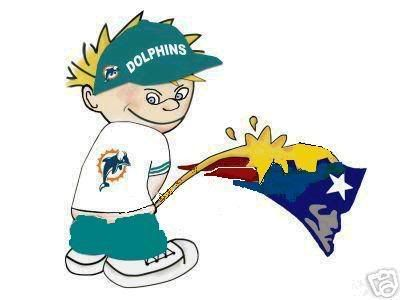 MIAMI DOLPHINS FAN TAKING A PEE ON NEW ENGLAND PATRIOTS LOGO THIS IS THE MIAMI DOLPHINS YEAR THE DOLPHINS HAVE A GREAT TEAM ON BOTH SIDES OF THE BALL DEFENCE & OFFENCE TOM BRADY WILL BE ON HIS BUTT ALL DAY