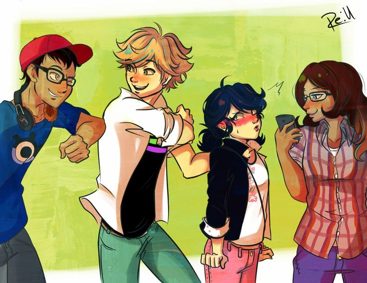 Just another day at school... (Miraculous Ladybug, Nino, Adrien, Marinette, Alya)