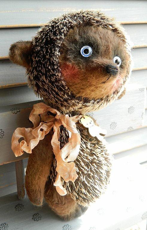 Teddy Bears handmade.  Fair Masters - handmade hedgehog (with a bear).  Handmade.