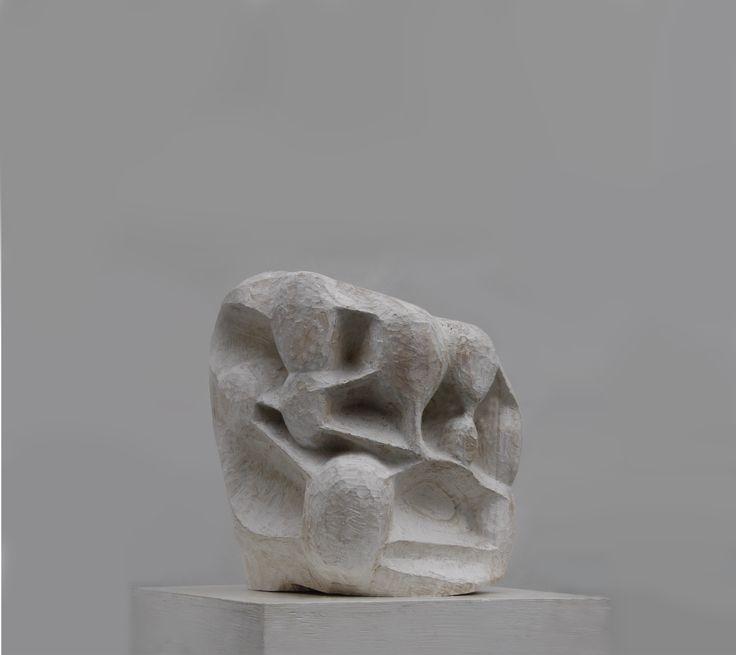 新192cm(6feet3.59inches)木彫群像制作考察中。 Kuukan / Ryosuke Yazaki 2014 hinoki tonoko gofun wax at TORTOISE