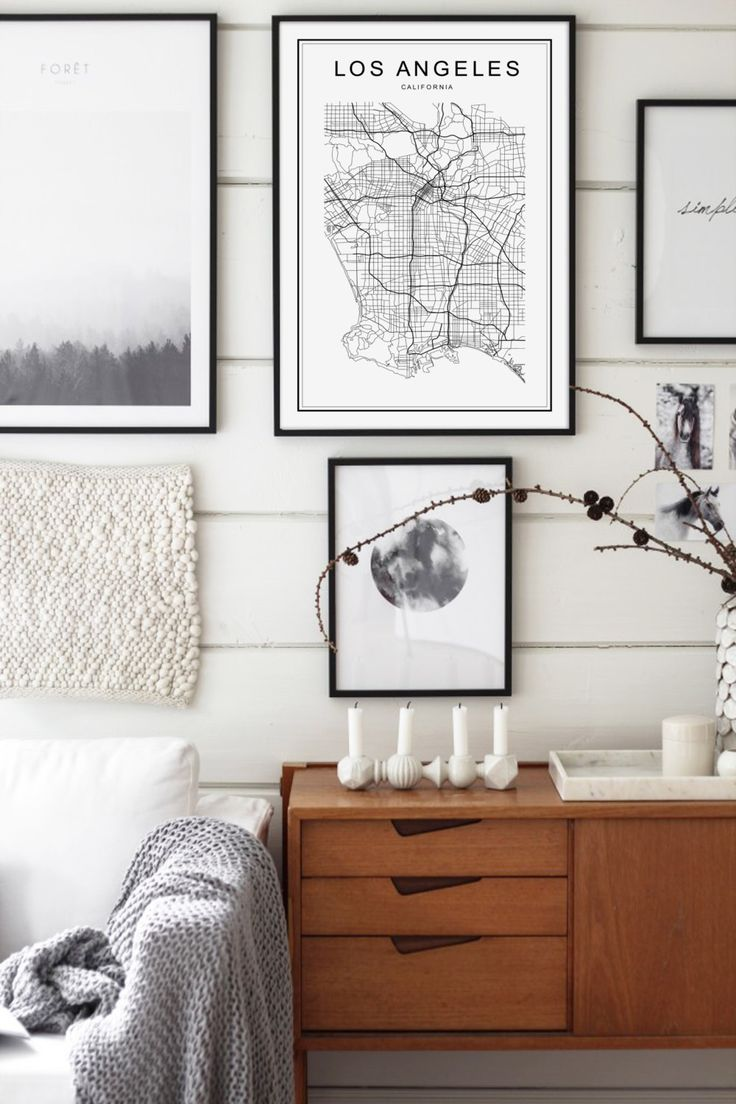 Best Galadigital Images On Pinterest - Los angeles poster black and white