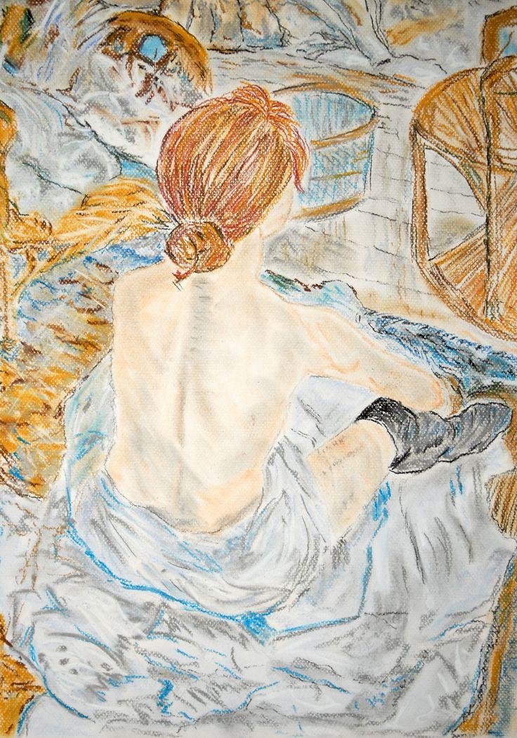 Henri de Toulouse-Lautrec Toaleta 1896, Musée d'Orsay, Paris - A3 pastel
