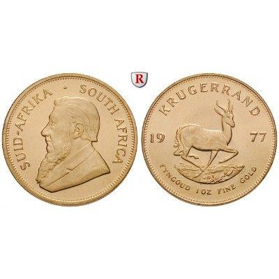 Südafrika, Republik, Krügerrand seit 1967, 31,11 g fein, bfr.: Republik seit 1961. Krügerrand 32,6 mm 31,11 g fein, seit 1967.… #coins