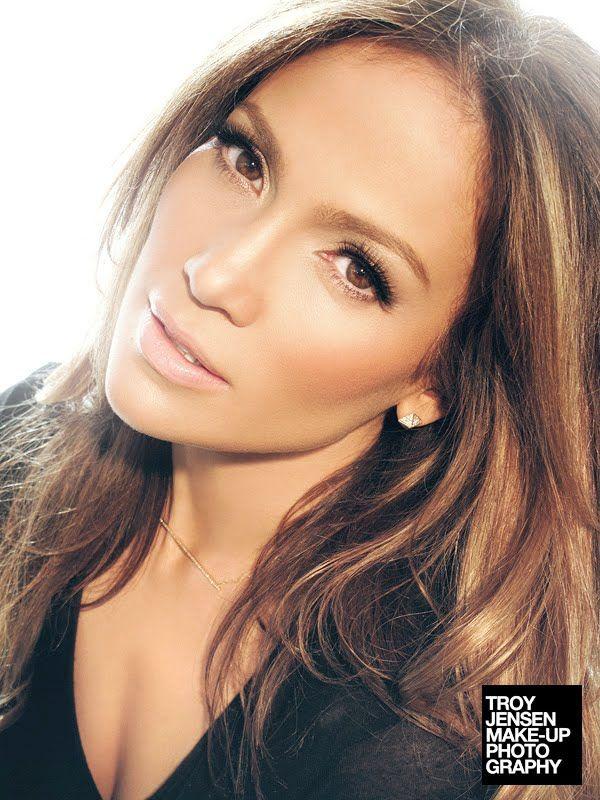Jennifer Lopez - makeup by Troy Jensen *Perfect wedding makeup.