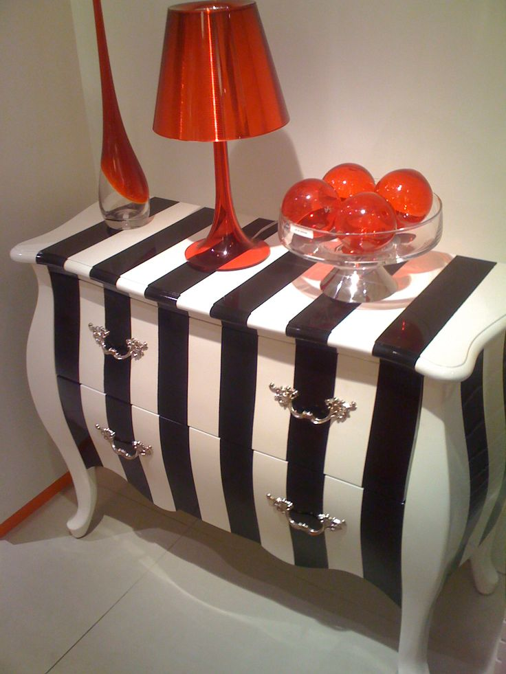 really really like the black & white stripes with the pop of red.My new colors in living room