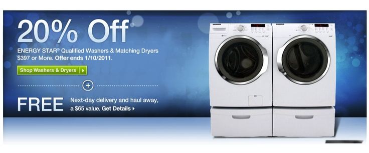 Washers and Dryers discount banner #promo #typography