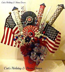 Cat's Holiday & Home Decor: 4th of July Centerpieces