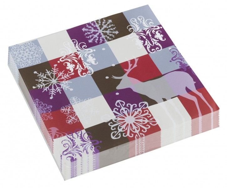 40 X Christmas Winter Design Party Lunch Napkins