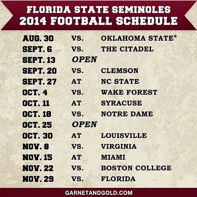 Go Noles! kick some ass!! may as well put the nat'l championship date on there too