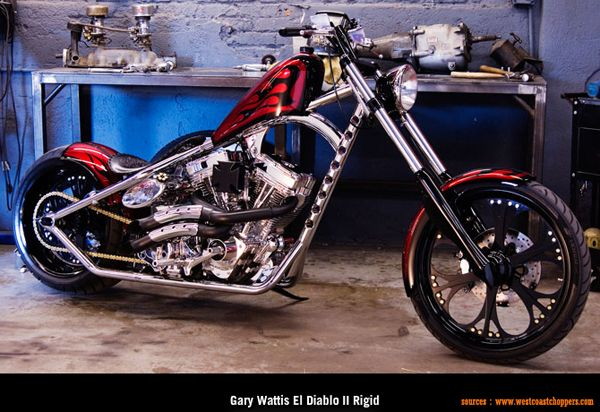 West Coast Choppers - Gary Wattis El Diablo II Rigid