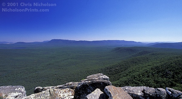 Mount Thackery and The Chimney Pots, Grampians National Park (AU720c)