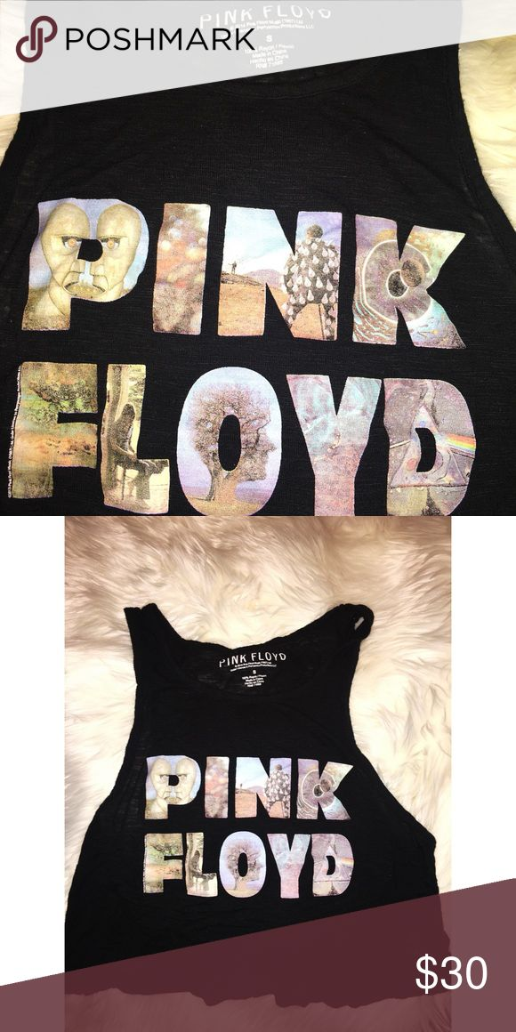 *New* Pink Floyd tank top Excellent condition. wore twice. Has every album in the pictures on the shirt super cute. Super rad. Size:small it can fit small & medium.          Tags:PinkFloyd, Lynyrd skynyrd , black sabbath , band tee , tank , graphic tee , Brandy Melville , pacsun , sundiego pink floyd Tops Crop Tops