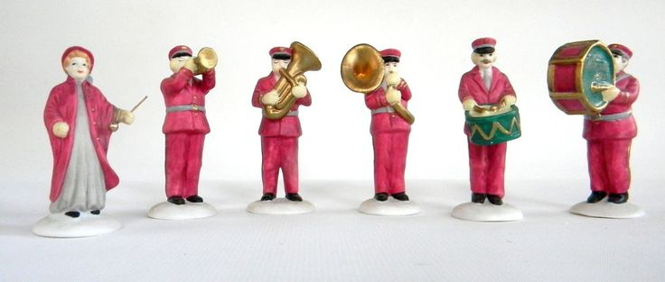Dept 56 Heritage Village Salvation Army Band Set of 6 5985-4 Accessories