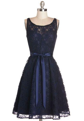 Navy-blue wedding guest dress