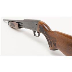 "Ithaca Model 37 Featherlight pump action shotgun, 20 gauge, barrel shortened to 18-1/2"", blue fini"