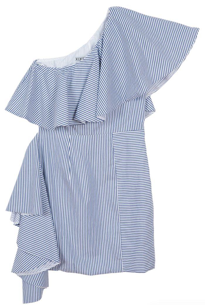 Robe en coton et soie, de Viva Aviva - Shopping mode: les chemises rayées