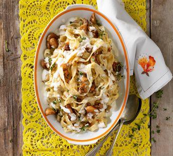 Romige tagliatelle met champignons - Recept - Jumbo Supermarkten