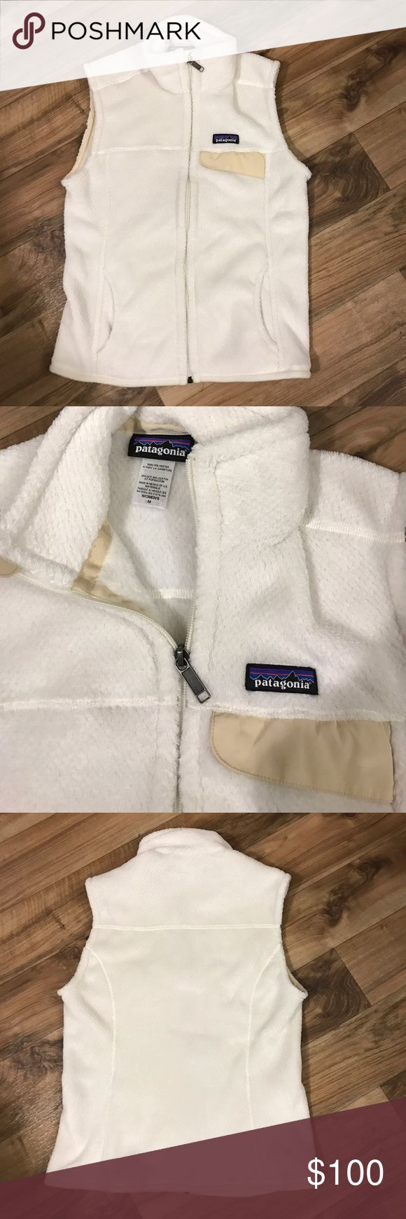 """Patagonia Fleece Vest Patagonia fleece vest in excellent condition. Color is """"raw linen"""", it's a cream color. Size medium. Patagonia Jackets & Coats Vests"""