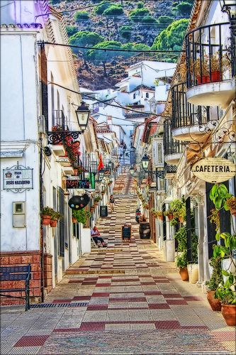 Mijas, Spain. My Grandad had a villia in the hills near Mijas for 10 years and we would go every year. It was called La Floresta, meaning the forest/beautiful scenery in Rancho De La Luz (Ranch of the lights).