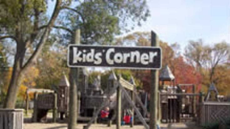 South Haven, Kids Corner is a park with it's one of a kind playground construction, a picnic area and shelter when your done swinging or climbing around.