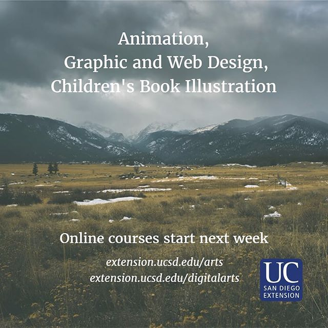 Spring quarter is already in full swing this week, but most of our online courses start next week! Check out our website in our bio for our offerings and to enroll.  #UCSD #ucsandiego #ucsdextension #ucsdextvisarts #art #artist #design #designer #illustration #childrensbookillustration #online #onlineclass #lajolla #sandiego #california #graphicdesign #webdesign #webdevelopment #blackboard #continuinged #artsed #sdart #artsd #lajollalocals #sandiegoconnection #sdlocals - posted by UCSD…