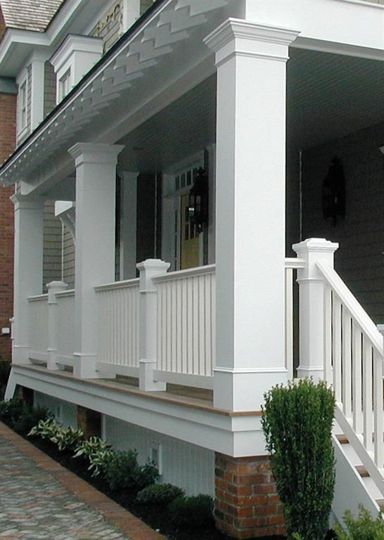 25 best ideas about porch columns on pinterest front for House plans with columns and porches