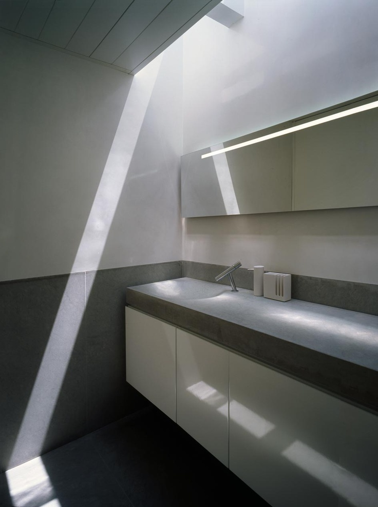 Natural stone bathroom by silvestre navarro architects supercity basin by sanico design Public bathroom design architecture