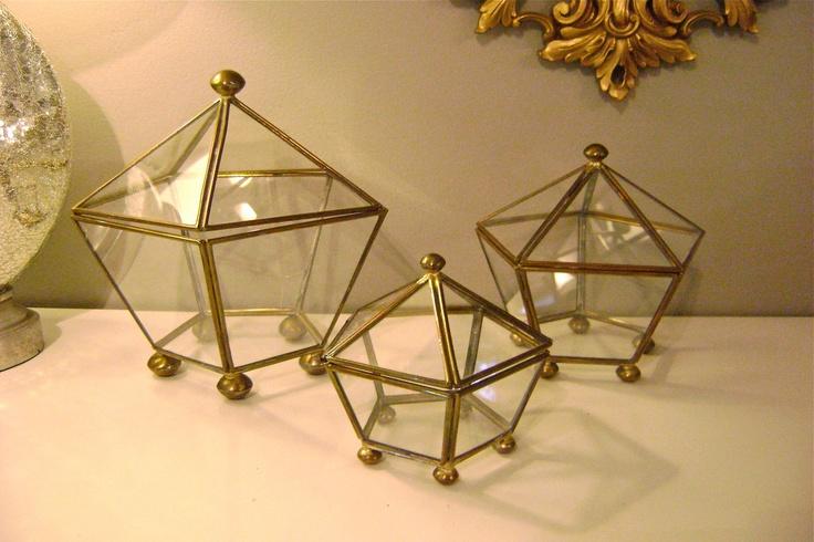 3 Vintage Glass Nesting Display Boxes. $55.00, via Etsy.: Glasses Nests, Display Boxes, 5500, Vintage Glasses, 55 00, Nests Display