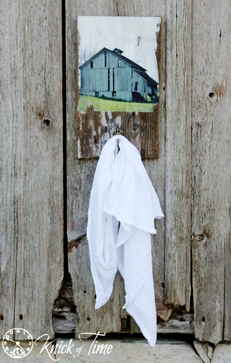 Turn an Old Barn Photo Reprint into a Salvaged Wood Wall Hook