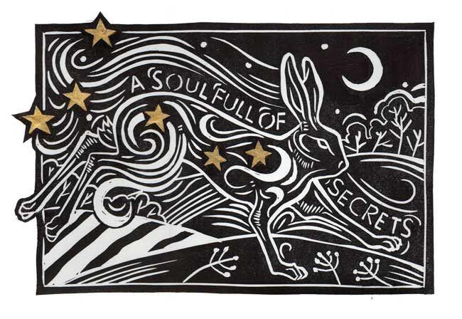 A Soul Full of Secrets by Jack Beaumont linocut print