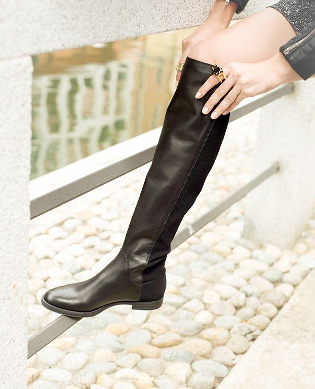 #black #leather #boot by #carmenspadova