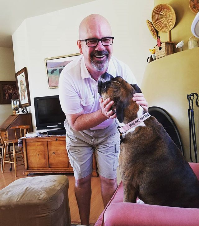 Sophie is happy to see me. #ranchosantafe #lomassantafe #encinitas #solanabeach  #cardiff #family #memorialday #ranchosantafelocals #sandiegoconnection #sdlocals #rsflocals - posted by Kip Colbourne  https://www.instagram.com/kipcolbourne. See more post on Rancho Santa Fe at http://ranchosantafelocals.com