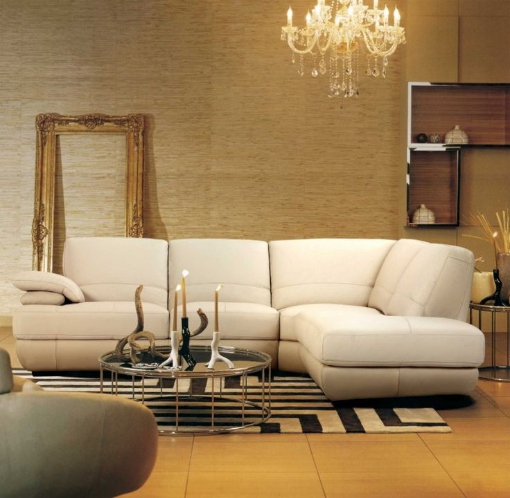 Contemporary Italian Beige Leather Sectional SofaBest 25  Beige sectional ideas only on Pinterest   Neutral i  . Orange Living Room Furniture. Home Design Ideas