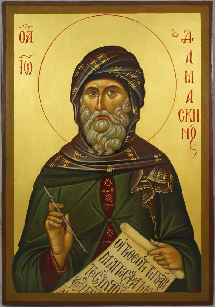 Saint John of Damascus - Hand-Painted Byzantine Icon