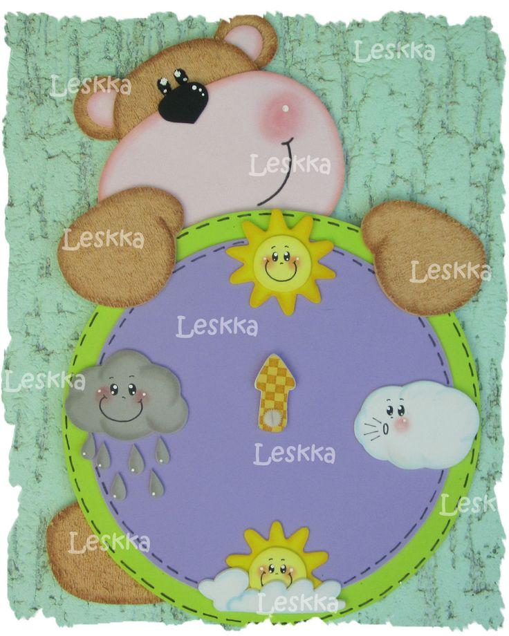 Leskka - Arte em e.v.a: Relógios!